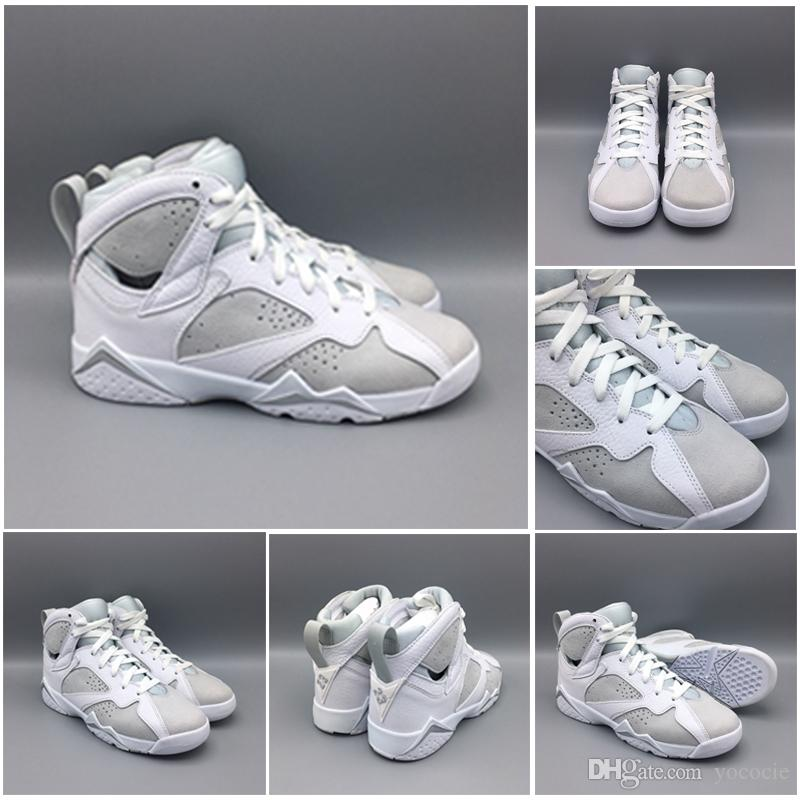 2018 New 7 Pure Money Mens Basketball Shoes 7s White Metallic Silver Pure Platinum Sneakers High Quality Basket Ball Sneakers buy cheap prices cheap low price cheap sale low shipping fee cheap Inexpensive sale manchester great sale yddQPL