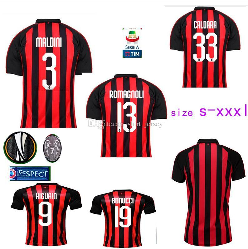 ecf19ac00b1 Home Higuain Shirts 18 19 Cutrone Suso Calhanoglu Football Pajamas ...