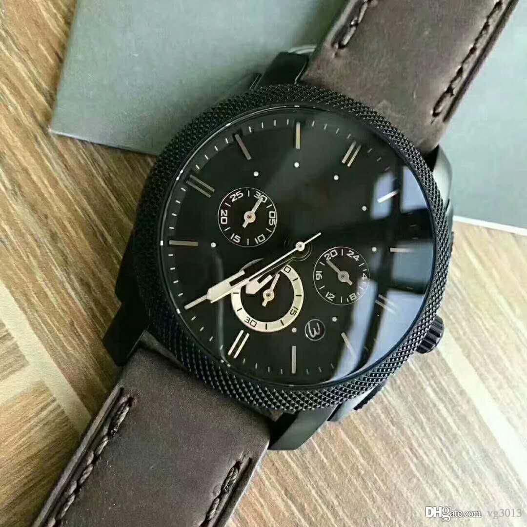 df0e68f28531 Compre Fosil Logo Wholesale Clone Relojes Para Hombre Nuevo Diseñador De  Moda Marca Relojes De Pulsera De Cuero Para Hombre Montre FS4656 FS4776  FS4784 ...