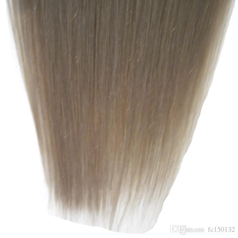 Straight clip in extension gray hair extensions clip in human hair extensions