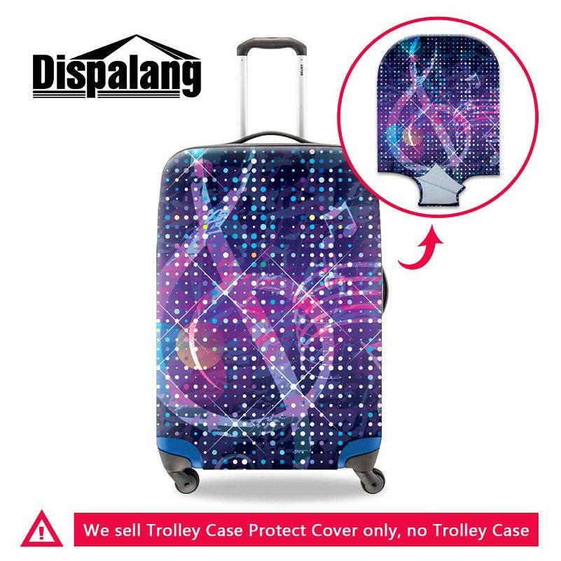 Personalized Design Musical Note Case For A Suitcase Elastic Dustproof Women Spandex Travel Bags Luggage Protective Covers For 18-30 Inch