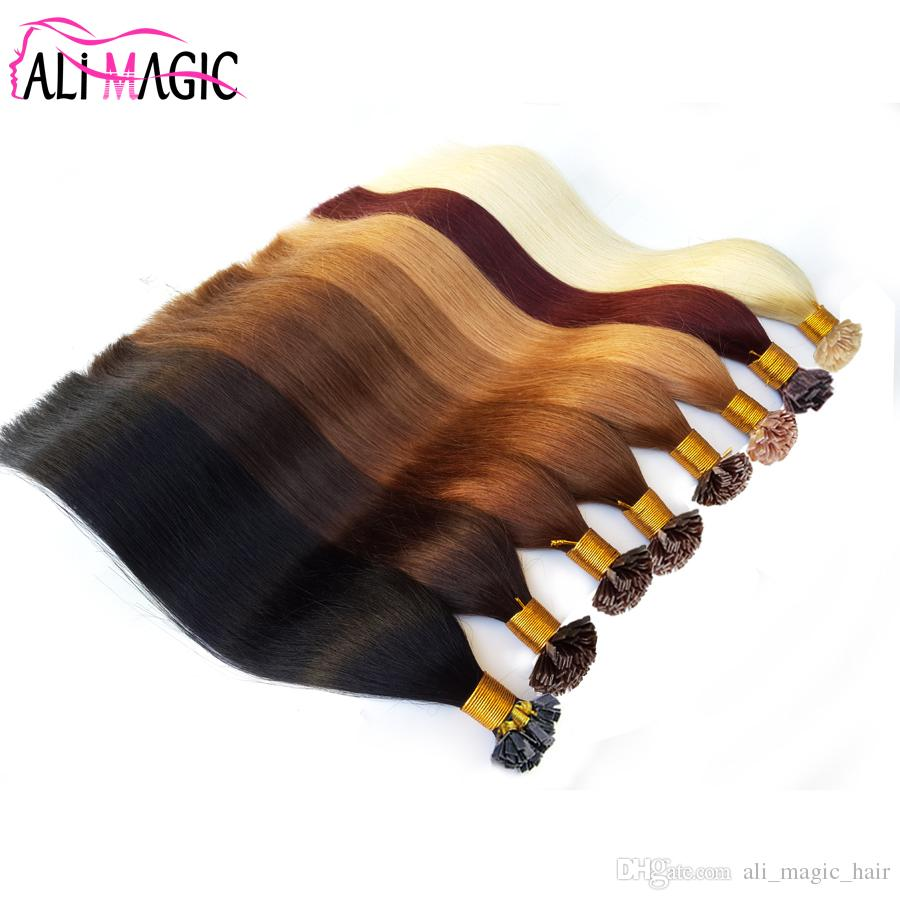 Flat Tip Hair Extensions Color #60 Light Blonde 1g/Strand 100g 100% Remy Pre Bonded Human Hair Flat Tip Extensions