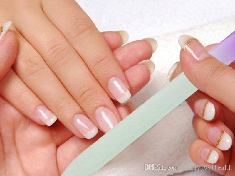 Лак для ногтей стеклянные пилочки для ногтей прочный Кристалл буфера файлы ногтей буфера файлы маникюр инструмент УФ-польский
