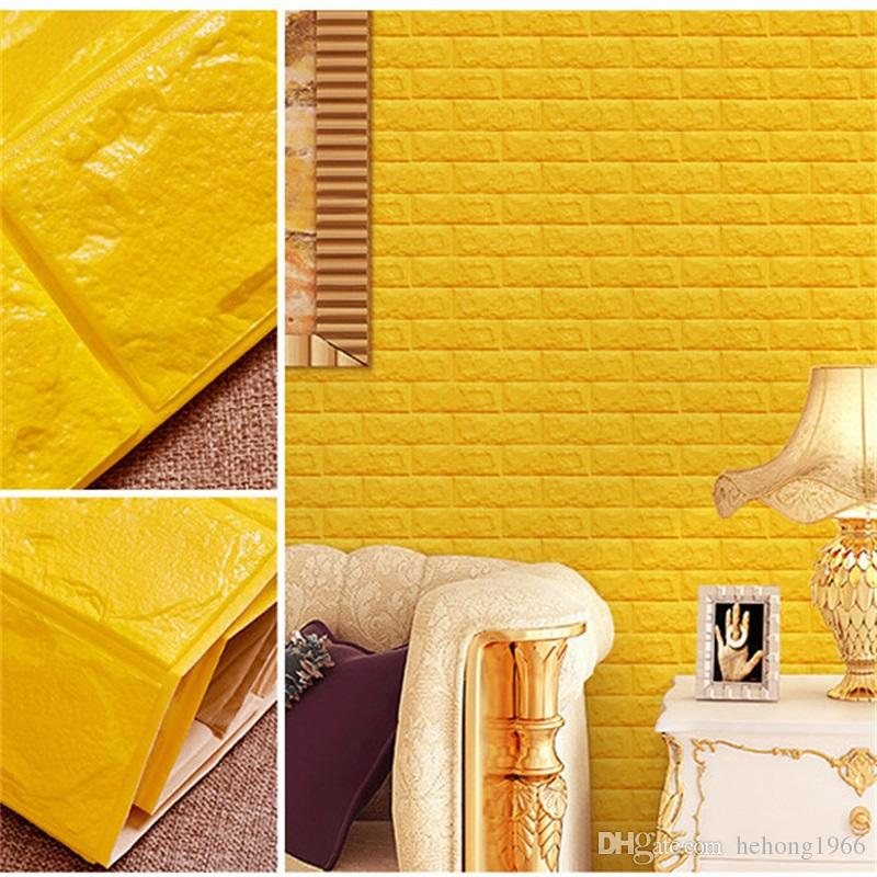70*77cm Waterproof DIY Wallpaper Creativity Decorative Plastic 3d Wall Panels Living Room Free Glue Design 3d Walls Board New 8 5as Z