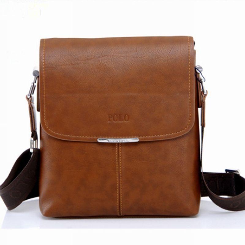 0194498331 2017 New Brand Pu Leather Men Messenger Bags Men Crossbody Shoulder Bags  Handbags Polo Brand Casual Briefcase PL001 Cross Body Purses Cheap Designer  ...