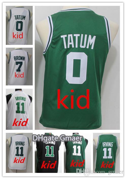 da8564c65e59 NCAA Wholesale 2018 Man Fans Youth Kids Shirt 11  Irving 7  Jaylen ...