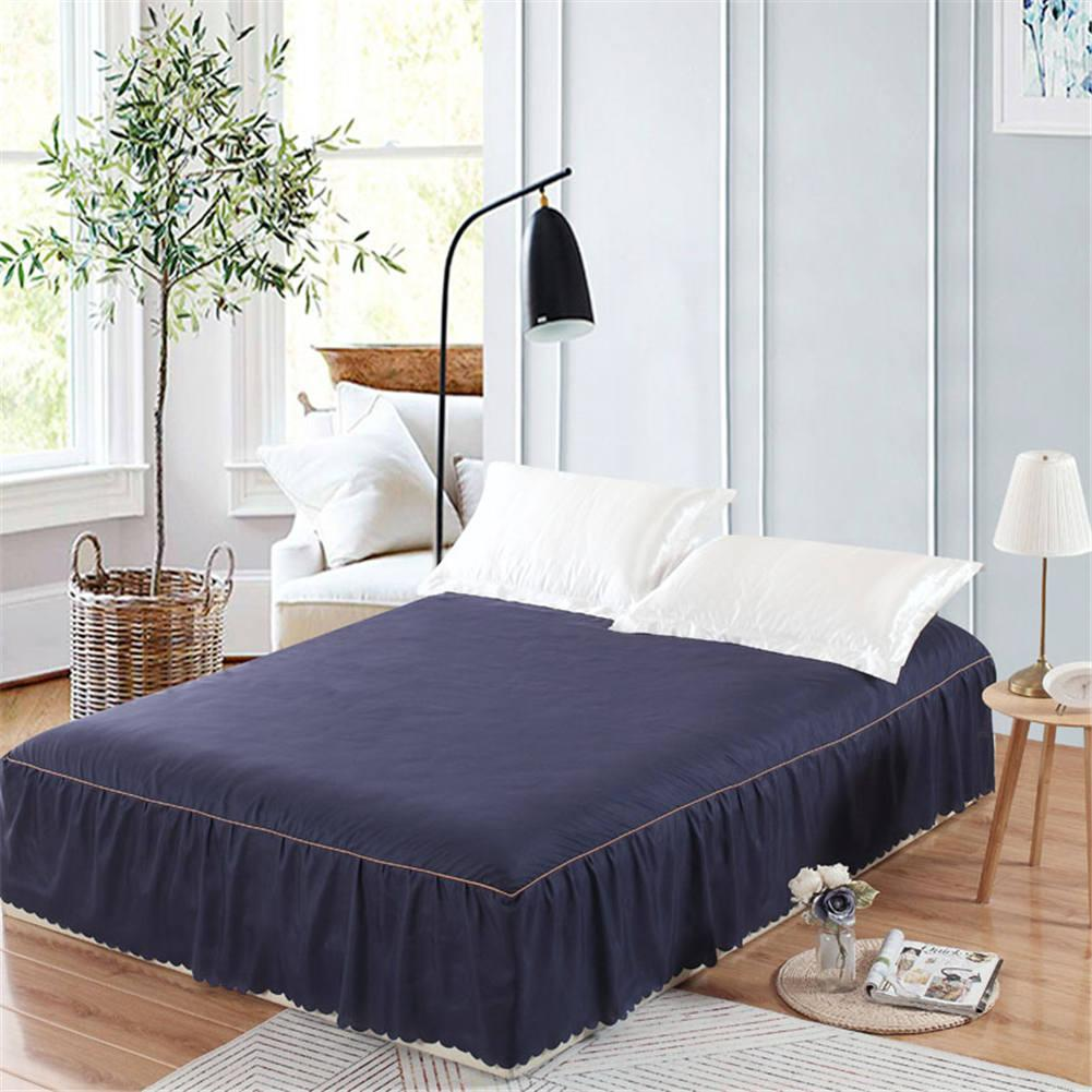New Sanding Bedspread Queen Bed Skirt Solid Color Fitted Sheet