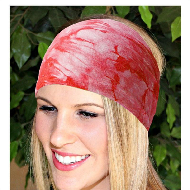 Ladies BOHO Tie Dye Cotton Headbands Bandana Turban Head Wrap Elastic For  Women Girl Hair Bands Hair Accessories Bandage Hair Accessories For Wedding  Hair ... 063614e29e7