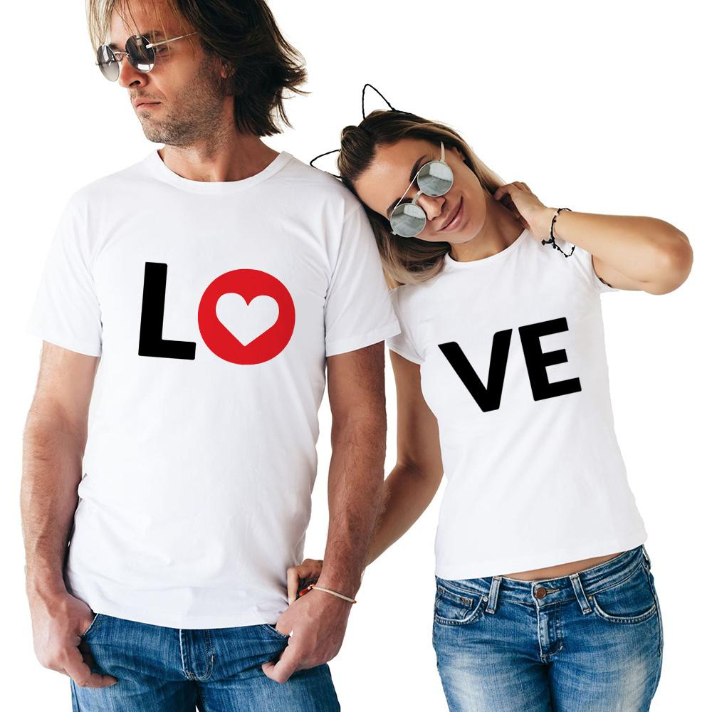 1897870b73 Lovers Summer Funny Love Letter Print T Shirts Cotton Women T Shirts Heart  Love Printing Cool Men Short Sleeve Couple Clothing Cool Tees Online Shirt  On T ...