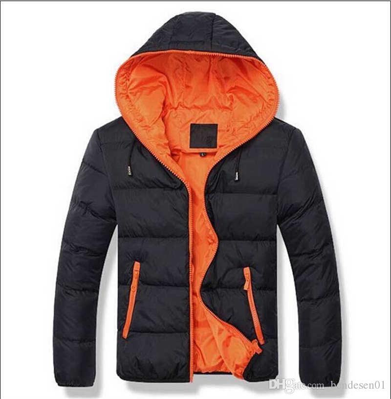 5713dcb109f7 Men Coats Outerwear Cotton Padded Down Coat Lover s Sport Coats Men Winter  Coat Hooded Padded Size M-3XL 3 Colors Kids Coats Best Quali