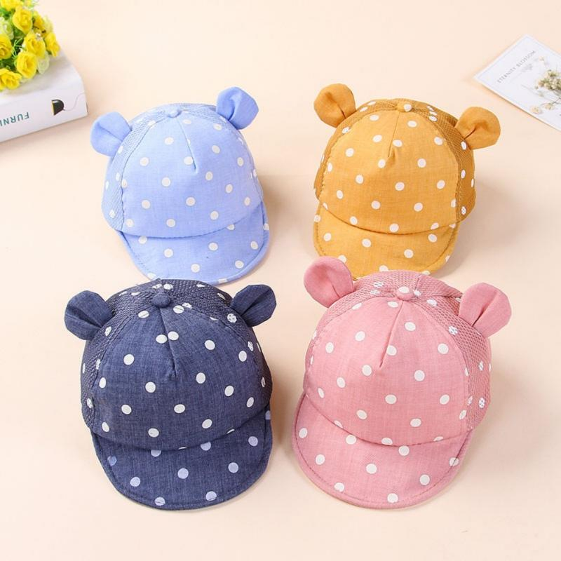 d24b76e6f56 Dots Little Ear Hat Kids Cap Newborn Toddler Baby Girl Boy Snapback  Baseball Cap X2 UK 2019 From Ferdimand