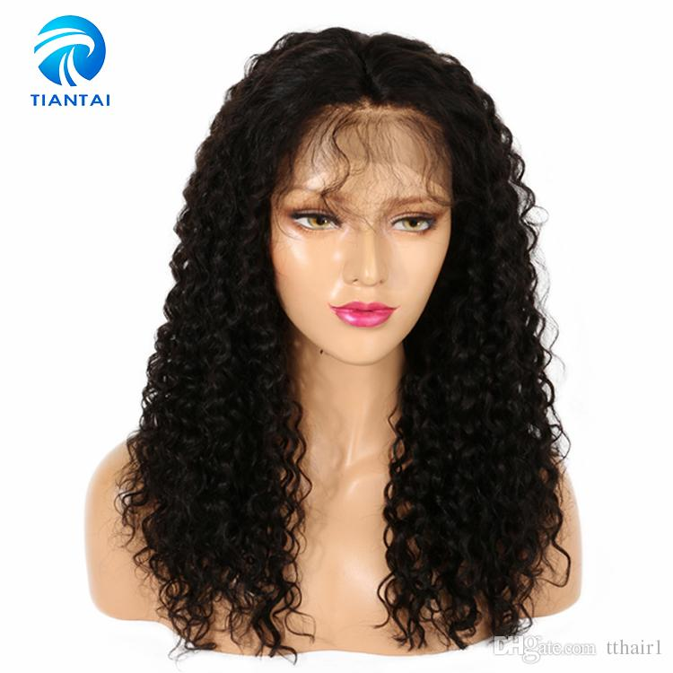 Kinky Curly Human Hair Extension Lace Front Wigs Brazilian Peruvian
