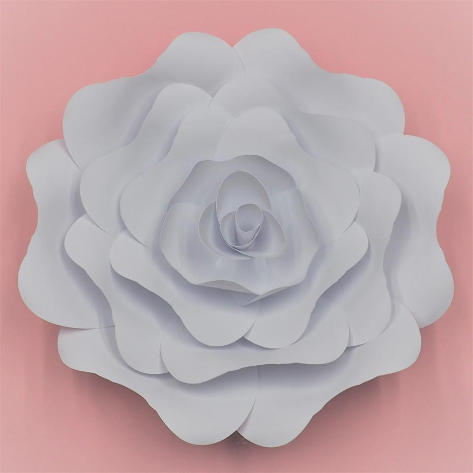 2018 Half Made Giant Paper Flowers Diy Full Kits For Wedding Event