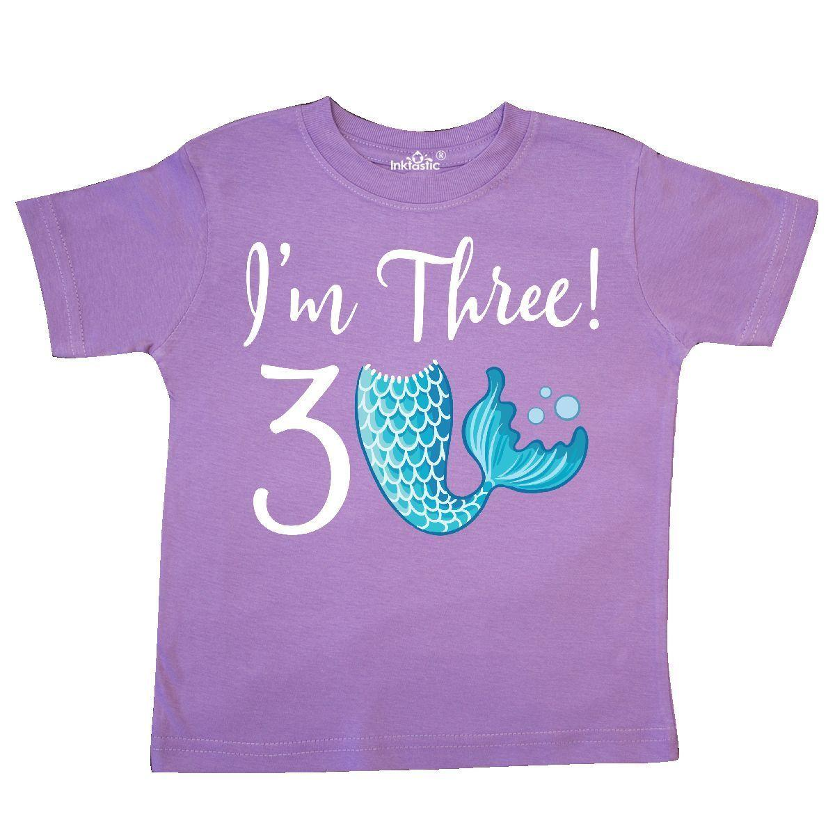 Inktastic 3rd Birthday Girls Mermaid Party Toddler T Shirt 3 Year Old Im Three Funny Unisex Casual Tee Gift Humorous Shirts From Spirit