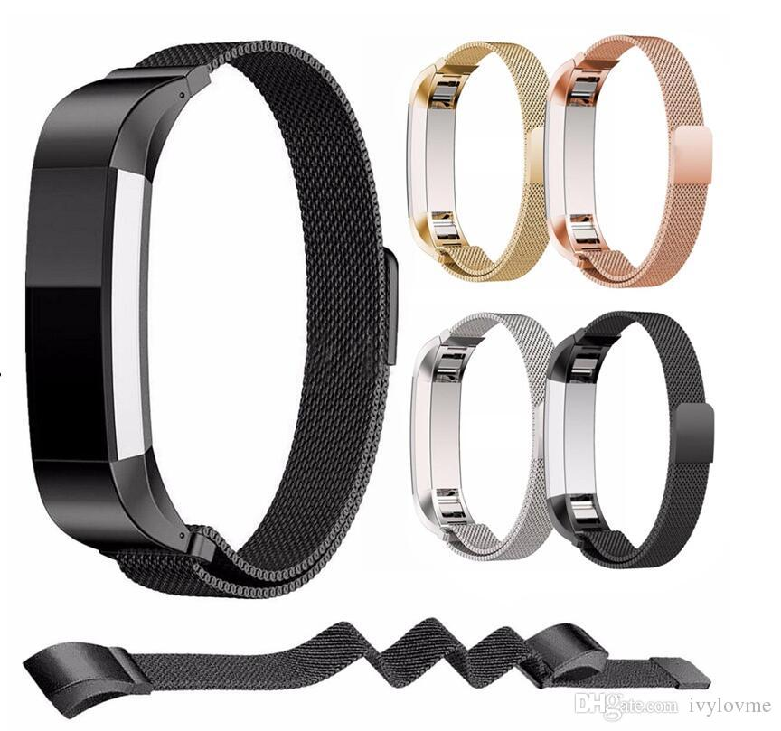 Newest For Fitbit Alta Magnetic Milanese Loop Metal Bracelet Band Watch  Band Stainless Steel Wrist Strap Bracelet Colorful Pk charge 2 blaze