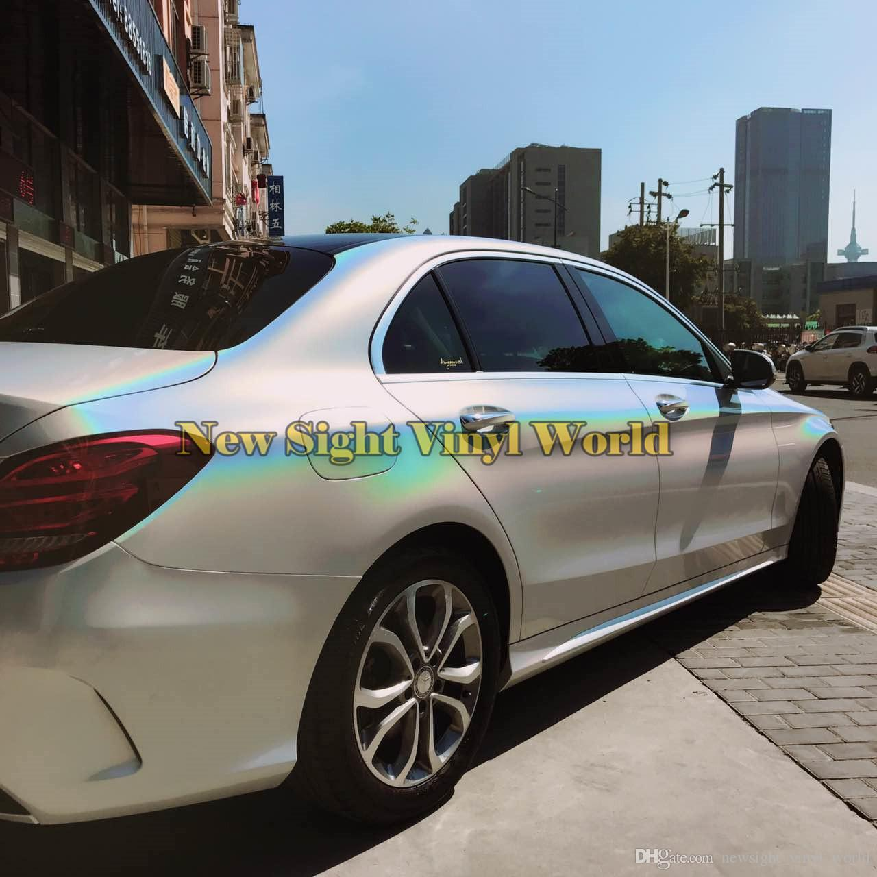 Premium White Gloss Psychedelic Vinyl Wrap Film Car Body Foil Decal Bubble Free For Car Wrapping Film