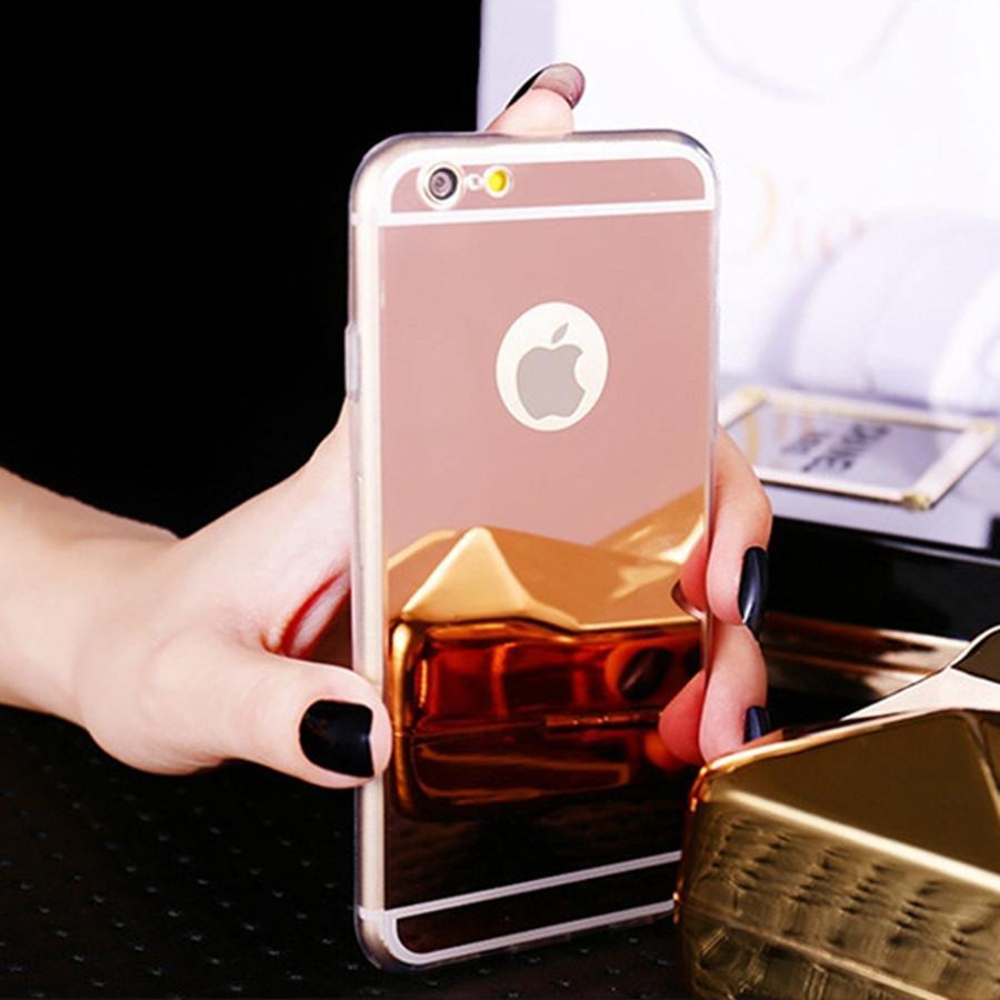 eab9ea8cd8f Fundas Para Celulares Personalizadas Moda Ultra Delgada Funda Suave Para  Iphone 5S Clear Silicone Edge Mirror Contraportada Para Iphone 5 5S SE 6 6S  7 Más 4 ...