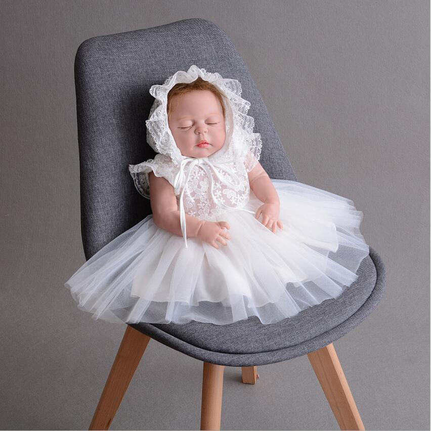 44669c158634 2019 New Born Baby Girls Infant Dress Clothes Summer Kids Party Birthday  Outfits 1 2years Shoes Set Christening Gown Baby As Gift From  Ouronlinelife