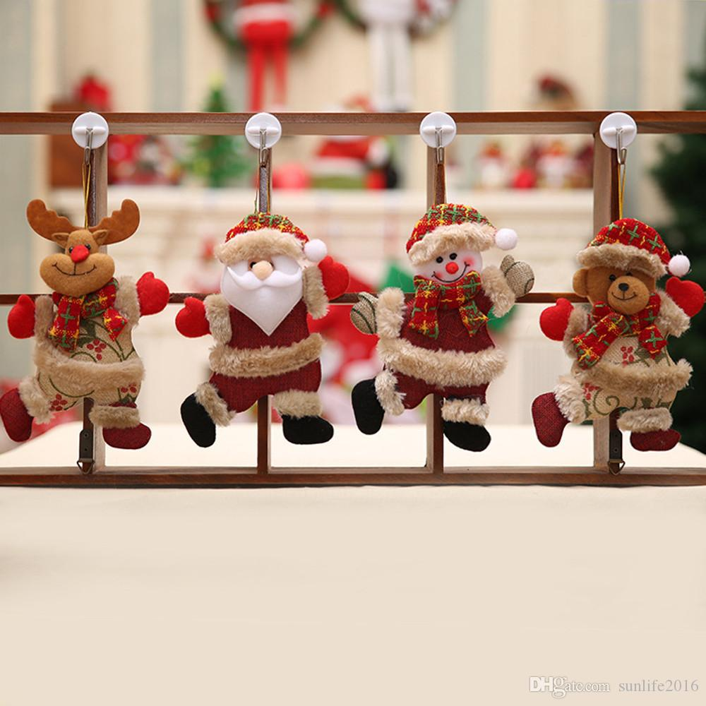 2018 merry christmas ornaments christmas gift santa claus snowman tree toy doll hang decorations for home enfeites bh33 big christmas ornaments big