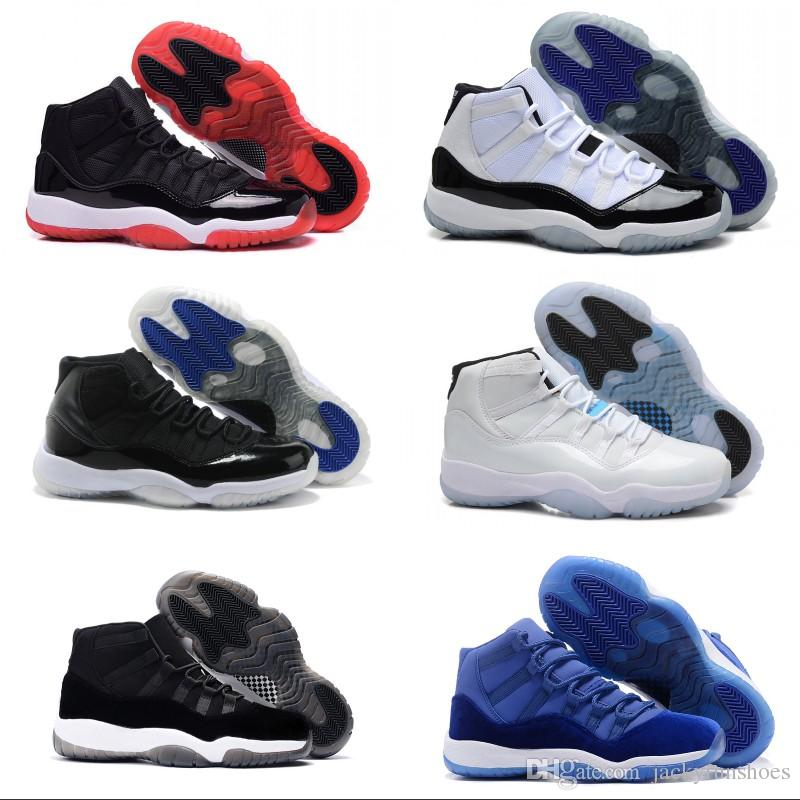 36939a4d722a8f 2018 11 11s Space Jam High Quality Bred Concord Basketball Shoes Men ...