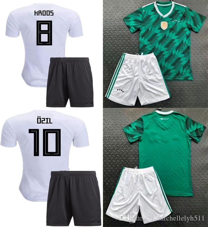 e5eb0485550 2019 Deutschland Soccer Sets OZIL MULLER GOTZE KROOS REUS Football Kits  2018 World Cup GerMANy Home Away Soccer Jersey Shorts Thai Quality Wears  From ...