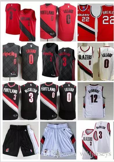 2018 Men Trail  0 Damian Lillard City Jerseys Embroidery Splice Cheap 3  CJ  McCollum All Stitched RipCity Lillard Basketball Jersey Suture Trail 0  Jerseys 0 ... 699b2337b