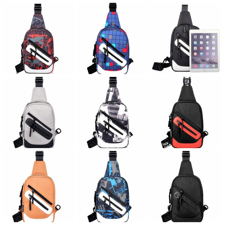 Oxford Crossbody Bags Men Zipper Chest Bag Pack Casual Crossbody Bag Single Shoulder Strap Pack Travel outdoor bags GGA880 30pcs