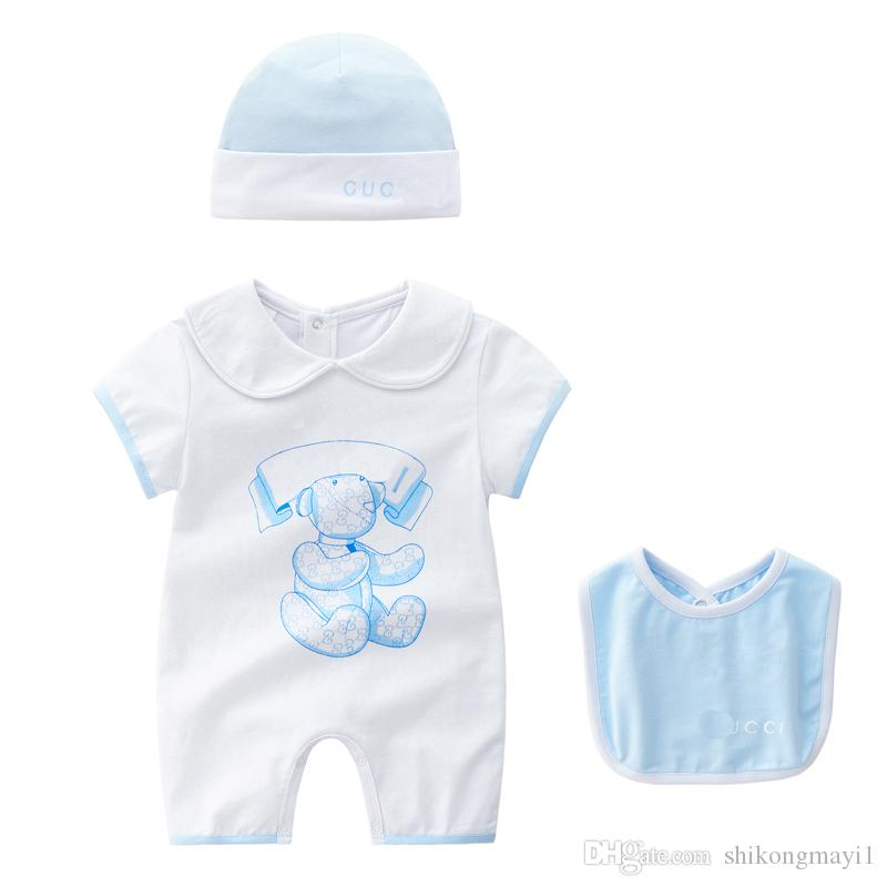 f228e868d 2019 2018 New Baby Rompers Newborn Infant Baby Boy Girl Summer ...