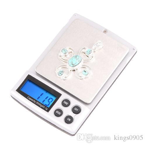 Professional 2000g/0.1g Digital Scale Pocket Electronic Jewelry Diamonds Scale Mini Weighing Scales Weight Balance LCD Display