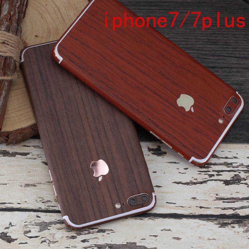 Holz Design Ganzkörper Aufkleber Nachahmung Holz Front Rückseite Film Abdeckung Handy Film Für Iphone7 8 Plus 6 6s 6 6s Plus