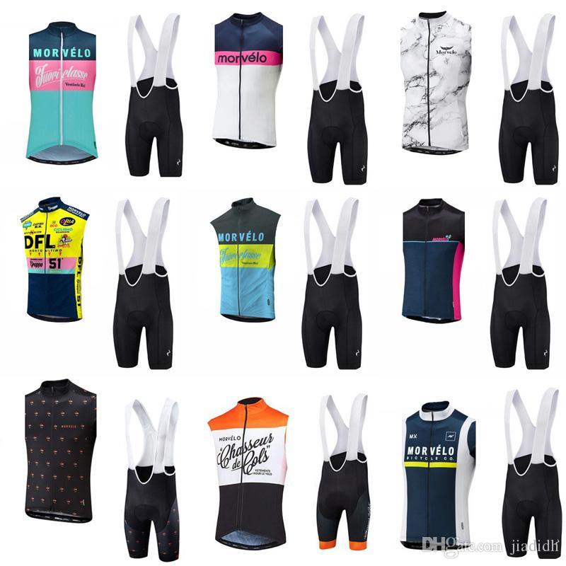 00684cc1b Hot Sale! Morvelo Team Cycling Sleeveless Jersey Vest Bibshorts Sets ...
