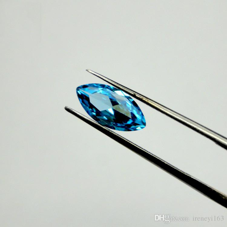 Blue Topaz CZ 1.5x3mm-8x16mm 10 Sizes Marquise Shape High Quality AAA Cubic Gems Loose Gemstone Wholesale For Jewelry Making