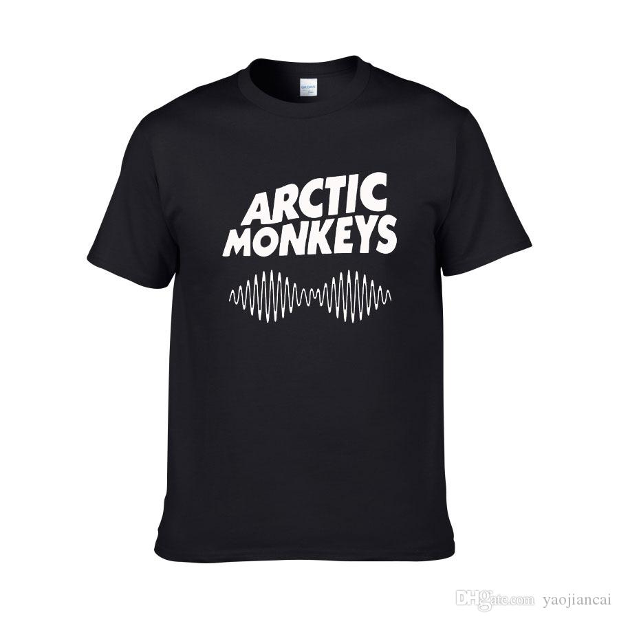 2018 Hot Arctic Monkeys Lettres Imprimer Femmes Hommes T-shirt En Coton Casual Shirt Pour Lady Blanc Noir Top Tee