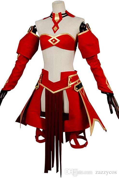 Destin Apocryphe FA Red Saber Costume Mordred Cosplay Costume Décontracté Costume De Bataille