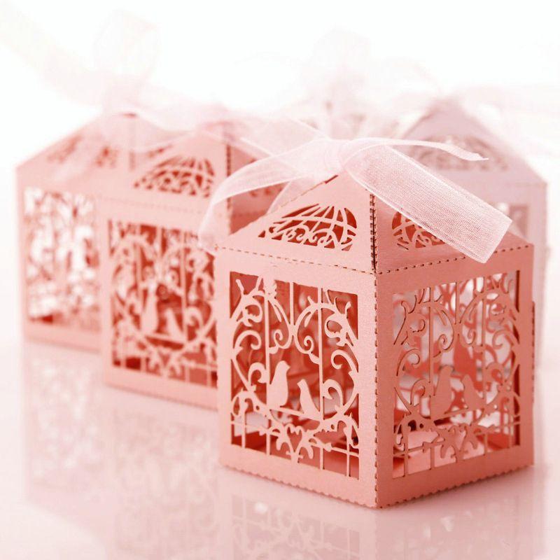 10 шт./лот птица любовь Сердце партия свадьба конфеты коробки полые сувениры конфеты подарки коробки с лентой горячая свадьба поставки S25