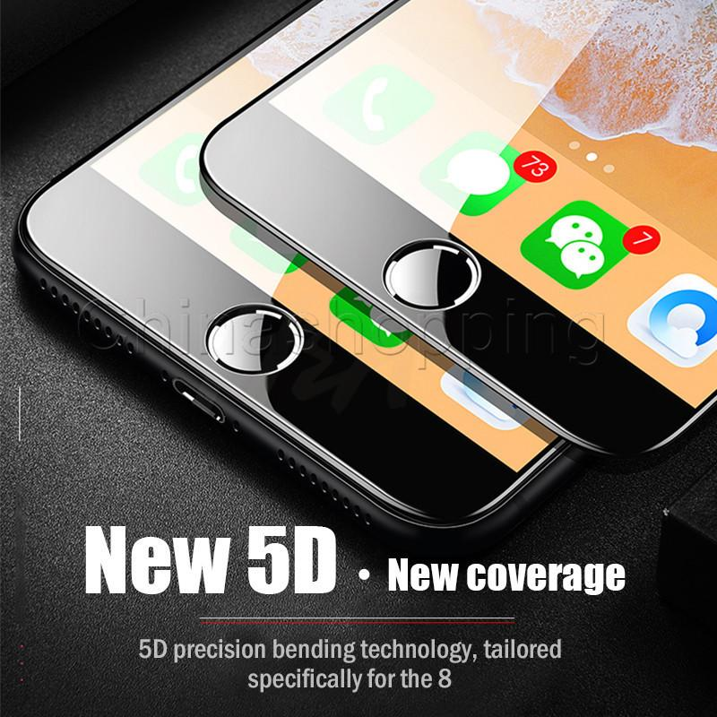 شاشة 5D كاملة الزجاج المقسى حامي صلابة مكافحة خدش الفيلم للحصول على برو 11 ماكس X XR إكسس ماكس 8 7 6 6S زائد مع حزمة البيع بالتجزئة