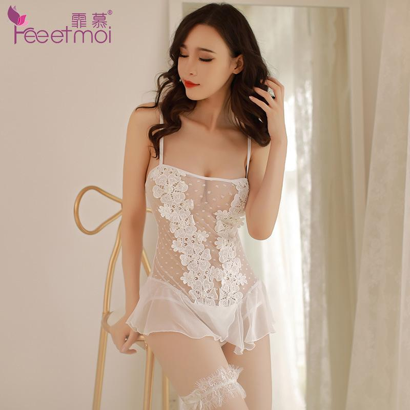 Sexy Bodystocking Women White Transparent Lace Sexy Lingerie Hot Erotic  Teddy Bodysuit Women Mesh Babydoll Sexy Lingerie Catsuit S927 Knee Length  Socks Mens ... ff15d3888