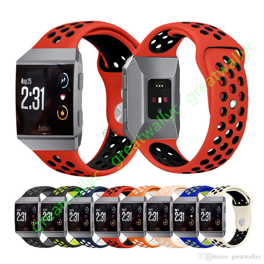 8424dd525 For Fitbit Ionic Smart Watch Bands Accessories Fitbit Ionic Replacement  Straps Silicone Sport More Hole Strap With Stainless Steel Metal Watches  Leather ...