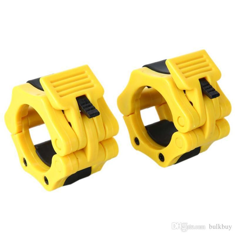 50MM Musculation Crossfit الدمبل الحديد المشابك الياقات قفل مشبك 1 أزواج