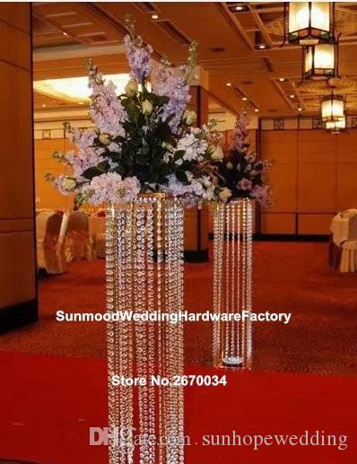 Customized acrylic crystal wedding columns/mandap/pillars for sale,wedding decor modern crystal column Roman Pillar