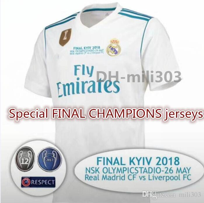 6375fbe93 2019 Top Thai Quality 2017 2018 Champions League Finals Real Madrid Home  Soccer Jersey 17 18 Ronaldo MODRIC BALE ASENSIO ISCO Football Shirt From  Mili303