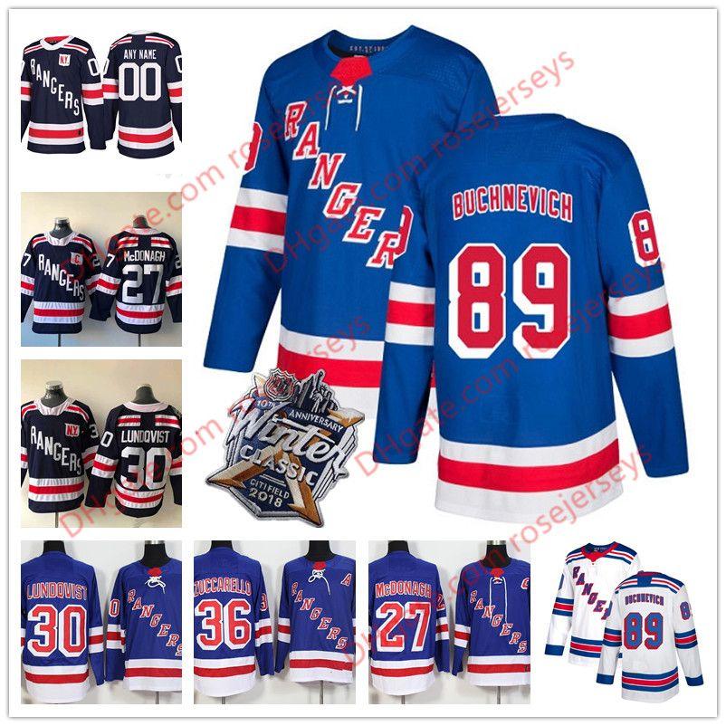 sale retailer 6efa1 a0dc6 2019 New York Rangers #89 Pavel Buchnevich 17 Jesper Fast 18 Marc Staal 48  Brendan Lemieux Light Blue White Winter Classic Navy Jerseys