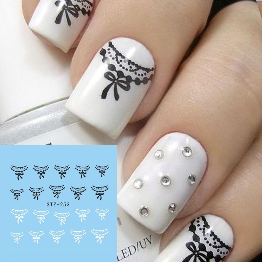 1x New Designs Black/White Necklace Shape Salon Diy Decal Sticker ...
