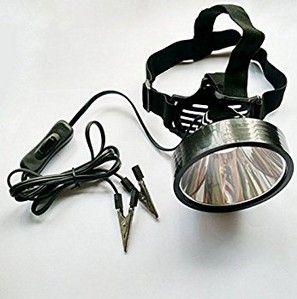 8W 6v 12v 24v Led Headlamp Hunting Fishing Hunting External Power Dc Power Headlight Glare