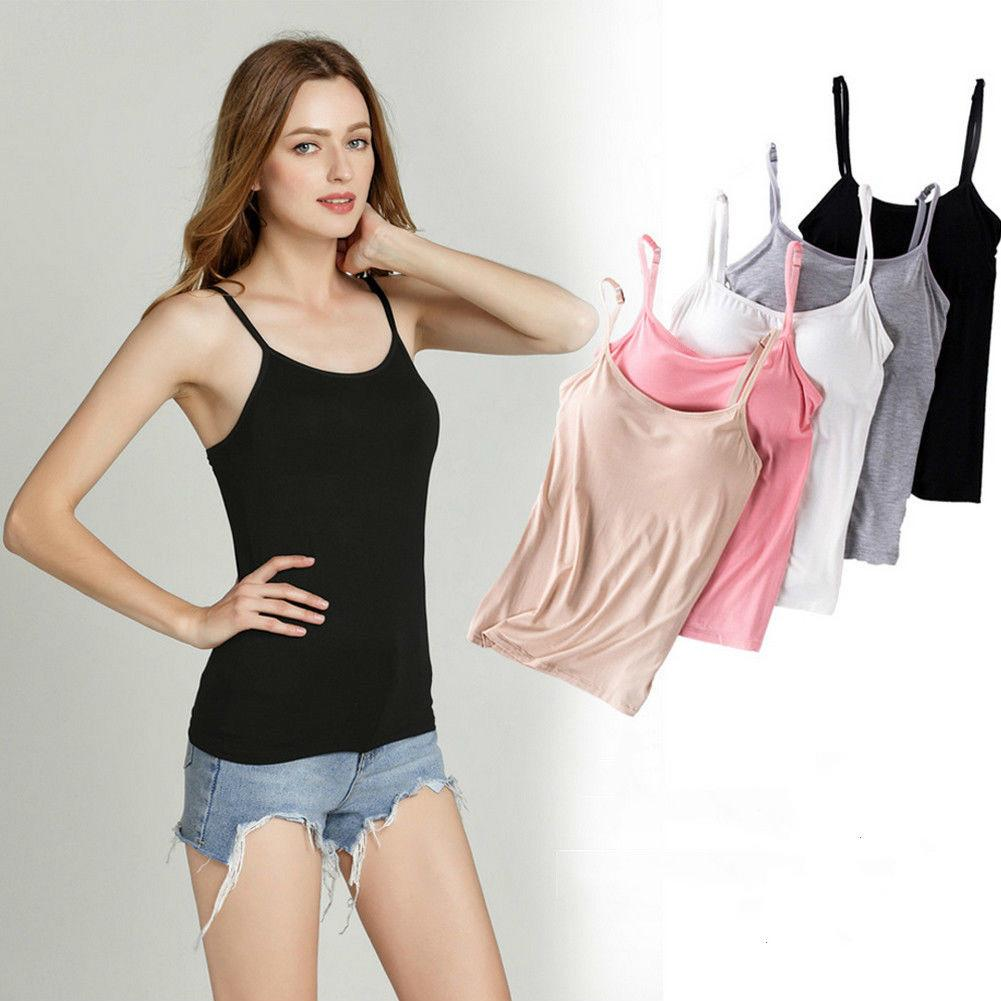 e2bc3627259 2018 Newly Women Ladies Casual Seamless Cami Comfortable Bra Strap Women  Layering Basic Tank Top One Piece Online with  24.94 Piece on Mobile10 s  Store ...