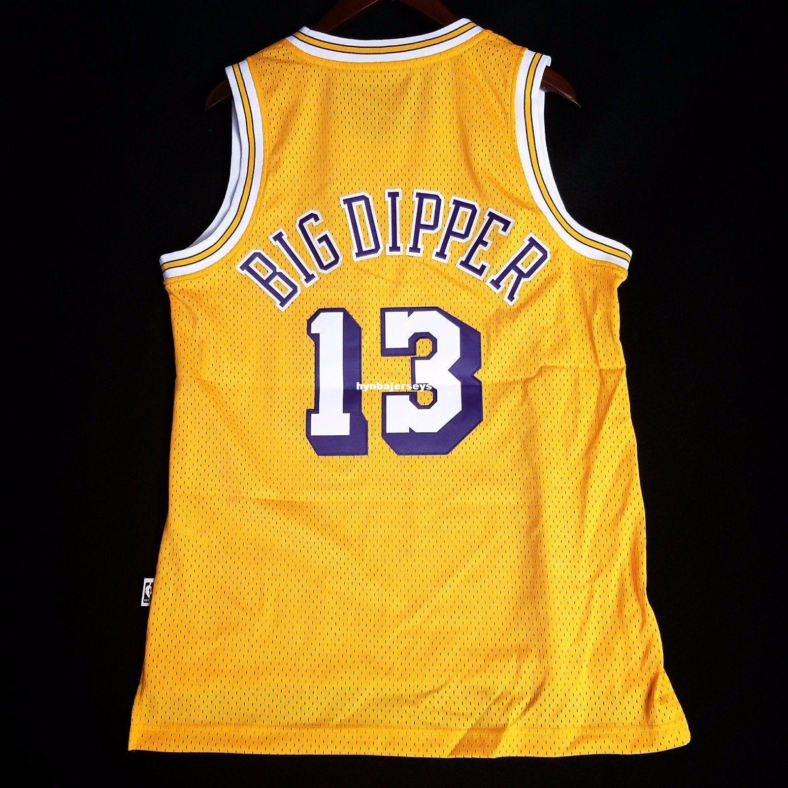 5f5df317e Acheter Rétro 100% Cousu Wilt Chamberlain   13 Big Dipper Soul Hwc En Gros  Jaune Jersey Mens Gilet Taille Xs 6xl Cousu Basketball Jerseys De  19.45 Du  ...