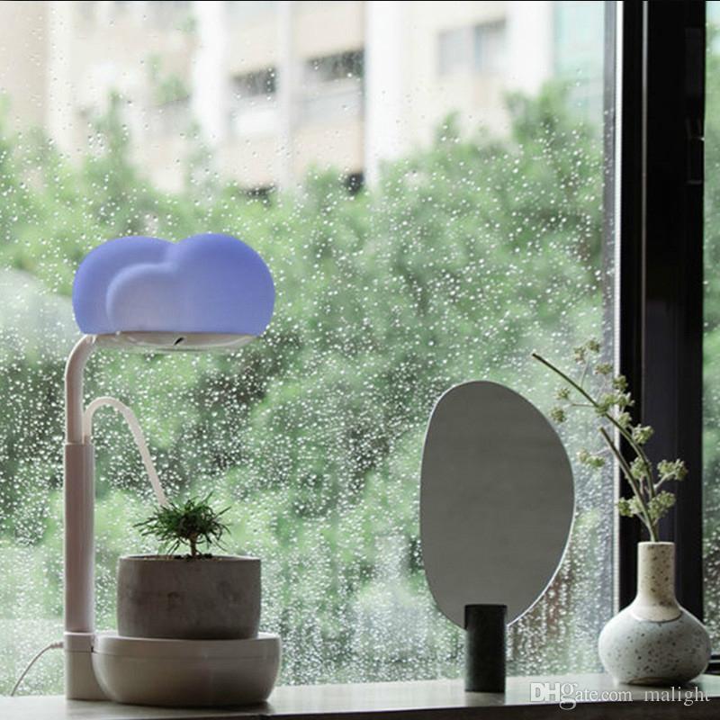DHgate.com & Self Watering Planter Herb Garden Kit Flower Pot LED Growing Light Indoor Hydroponic Herb Garden Kit Lamp Desk Lamp