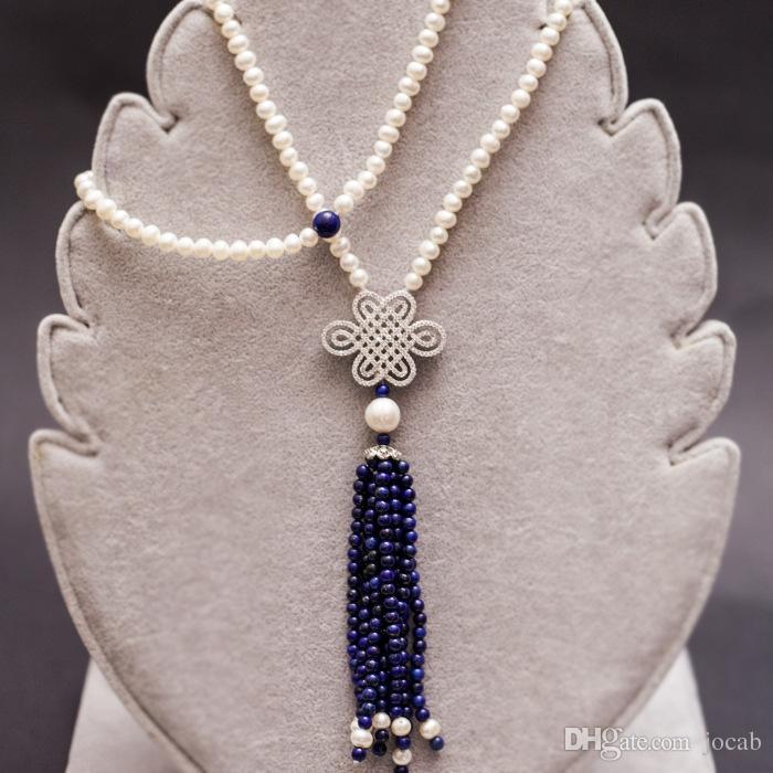 도매 고품질 구리 지르코니아 빅 스페이서 펜던트 중국어 매듭 술 진주 목걸이 액세서리 DIY Jewelry Findings Components