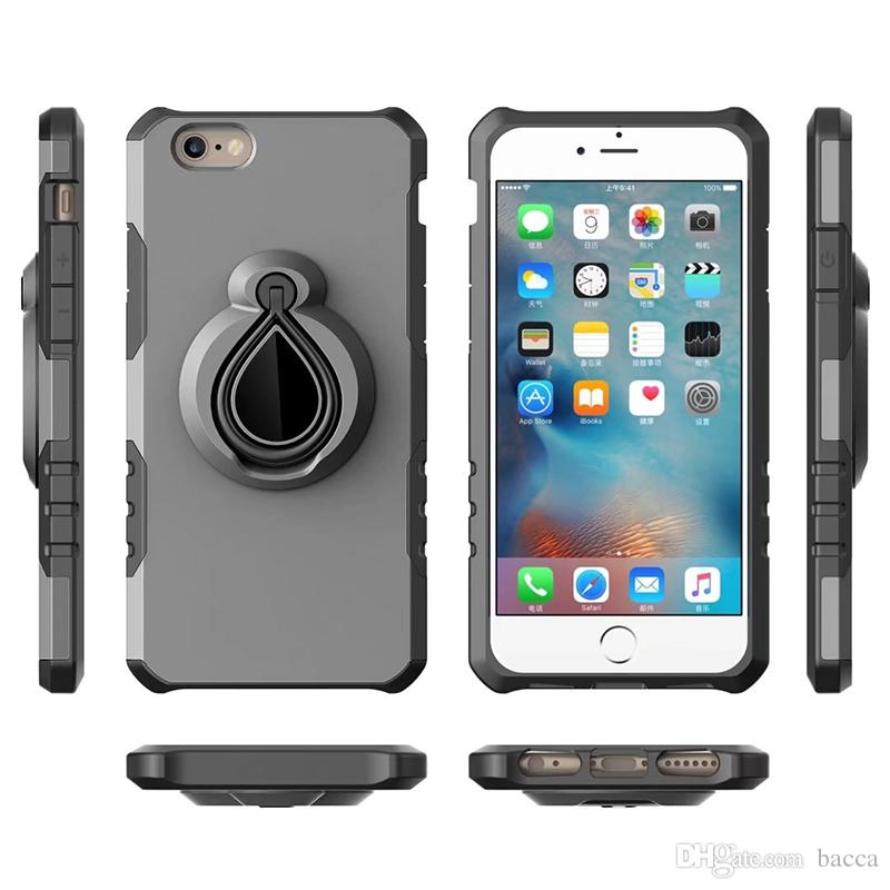 best service a516e 08b1e Case for iPhone XS XR XS MAX 6S Plus Magnetic Suction Car Mount Holder  Armor PC + TPU Case gel Shockproof Stand Hybrid Skin