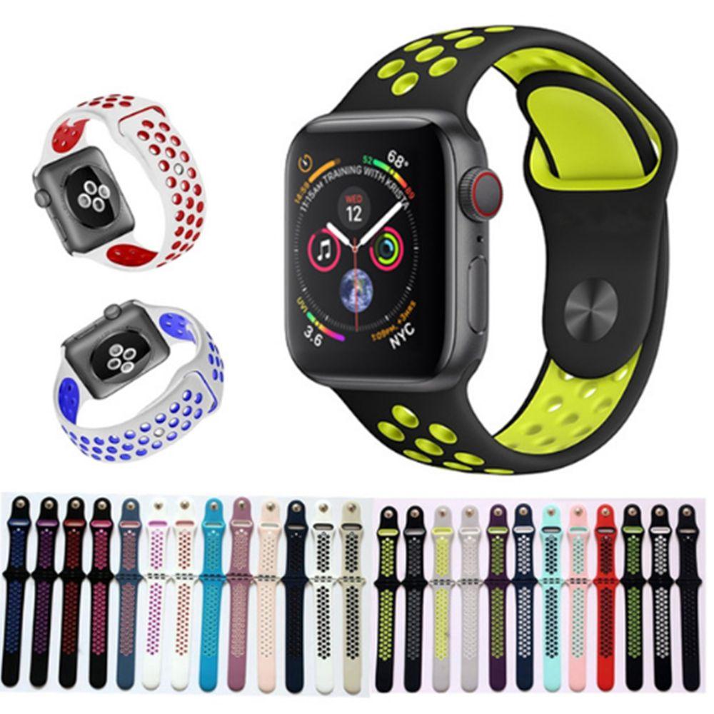 9c65026ae770 Compre Para Apple Watch Bandas De Repuesto Silicona 38mm 42mm 40mm 44mm  Correa De Correa De Reloj Correa De Reloj De Lujo Para Apple Iwatch Series  1 2 3 4 A ...